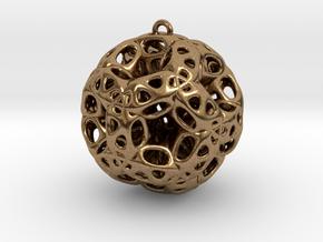Chrismas ball in Natural Brass