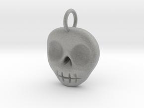 Skull Necklace/Earring pendant in Metallic Plastic