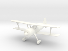 Pitts Model 12 in 1/96 Scale in White Strong & Flexible Polished