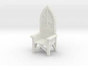 Gothic Chair 4 in White Natural Versatile Plastic