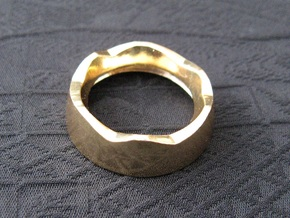 Ag Torch: Brass Bezel Ring (3 of 4) in 14k Gold Plated Brass