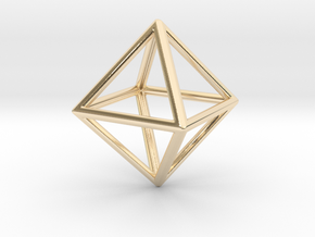 Octahedron LG in 14k Gold Plated Brass