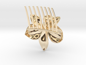 Orchid Comb in 14k Gold Plated Brass