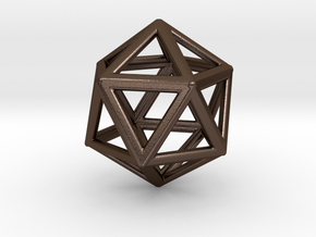 Icosahedron LG in Polished Bronze Steel