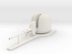 1:72 OTO Melara 76 mm/62 caliber naval gun in White Natural Versatile Plastic