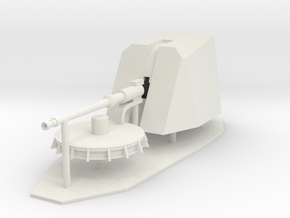 1:96 76mm OTOBREDA Main Deck Gun in White Natural Versatile Plastic
