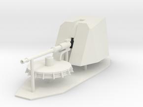 1:96 76mm OTOBREDA Main Deck Gun in White Natural Versatile Plastic