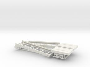 Graf Zeppelin 1:100 Schrägaufzüge (Elevators) in White Strong & Flexible