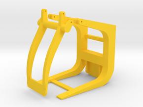 Holzgreifer für Radlader in 1:87 in Yellow Strong & Flexible Polished