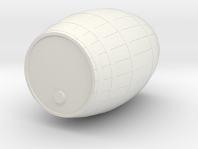 18th Century Barrel (13hx10dia) 1/35 in White Natural Versatile Plastic