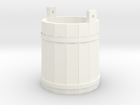 18th Century Pale or Bucket 1/24 in White Processed Versatile Plastic