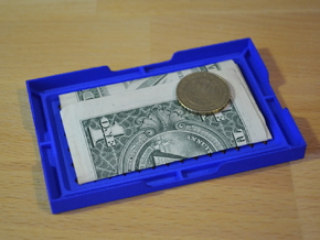Card & Coin Wallet w/ diamonds in Blue Processed Versatile Plastic