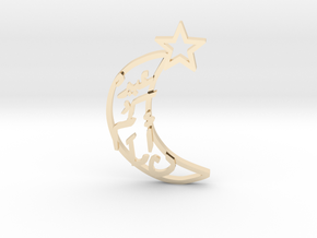 Crescent- pendant in 14k Gold Plated Brass