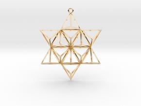 "TetraStar 2.2"" in 14k Gold Plated Brass"