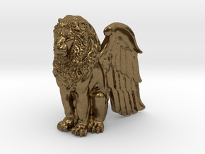 Winged Lion 25mm in Natural Bronze