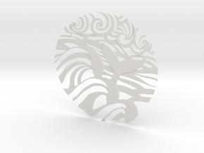 Ocean Wave tattoo in White Natural Versatile Plastic