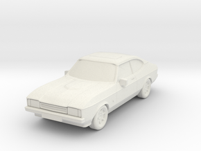 1:87 Ford capri mk2 ho scale hollow 1-mm in White Natural Versatile Plastic