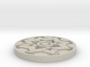 Fleur Style Coaster  in Natural Sandstone