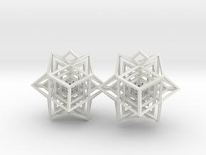 Hedra Cube in White Natural Versatile Plastic