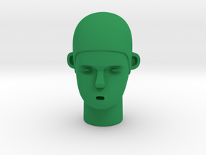 Skull Head in Green Processed Versatile Plastic