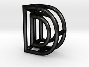 D in Matte Black Steel