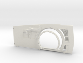 Extended Starboard Wall Replacement for DeAgo Falc in White Natural Versatile Plastic