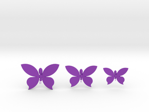 Butterflies On Your Wall in Purple Processed Versatile Plastic
