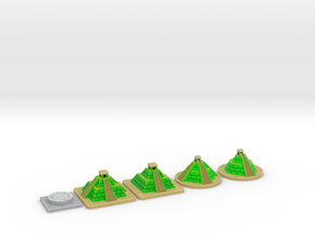 SOL Pyramids & Altar - Full colour (5 pcs) in Full Color Sandstone