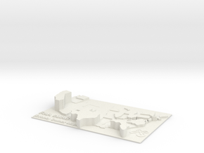 US Drone Owner Heightmap in White Natural Versatile Plastic