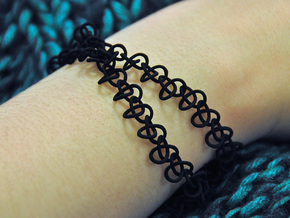 """Knotty"" Bracelet in Black Natural Versatile Plastic"