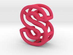 S in Pink Processed Versatile Plastic