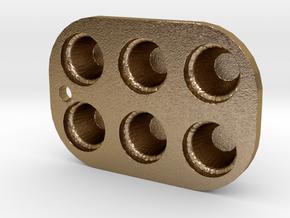 CUPCAKE TIN  in Polished Gold Steel