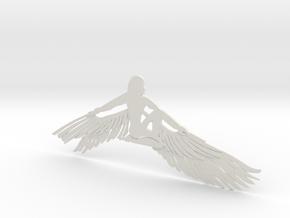 Lady Queen Bird in White Natural Versatile Plastic
