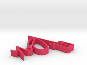 001094 : Signature of al-Quran verses numbers in Pink Processed Versatile Plastic