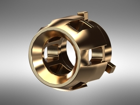 KAM Chassis Part 2 Crystal 5mm LED Holder in Natural Brass
