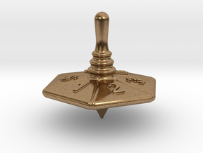 Spinning Top in Natural Brass