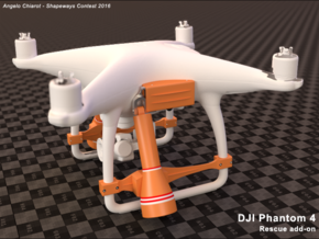CONTEST 2016 - DJI Phantom 4 - rescue addon in Orange Strong & Flexible Polished