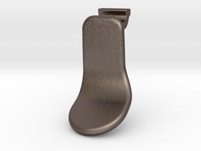 Elite Short Paddle Left in Polished Bronzed Silver Steel
