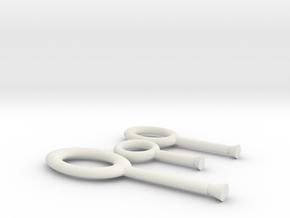 Hoops Ben in White Strong & Flexible
