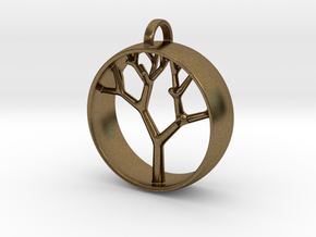 Natural Collection - Tree Pendant in Natural Bronze