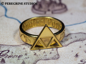 Ring - Triforce of Power in Polished Brass: 13 / 69