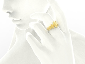 Fashion Fire Ring 1009 in 18k Gold Plated Brass
