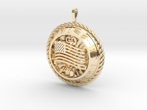 America Medalion Go Girls in 14K Yellow Gold