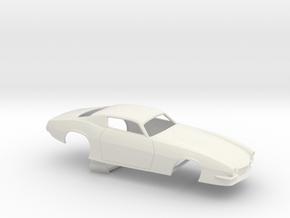 1/8 Pro Mod 73 Camaro Flat Hood in White Natural Versatile Plastic