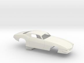 1/12 Pro Mod 73 Camaro Flat Hood in White Strong & Flexible
