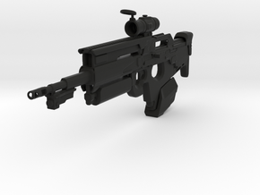 Jigoku Rifle (1:6 Scale) in Black Natural Versatile Plastic