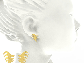 Fashion Fire Earring 1008 in 18k Gold Plated Brass