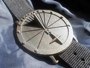 35N Sundial Wristwatch With Compass Rose in Stainless Steel