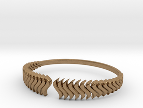 Fashion Bracelet Fire 1008 in Natural Brass