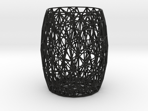 Voronoi Mesh Pencil Holder in Black Strong & Flexible